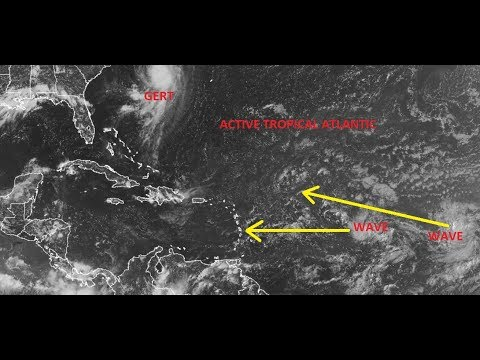 SOLAR ECLIPSE WEATHER OUTLOOK, HURRICANE GERT & THE ACTIVE TROPICAL ATLANTIC WEATHER MODEL ANALYSIS