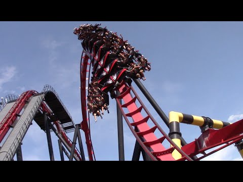 Six Flags Great America July 2016 Park Footage