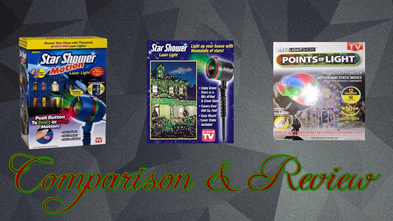 Star shower vs star shower motion vs all laser lights review and comparison youtube for Avis star shower motion