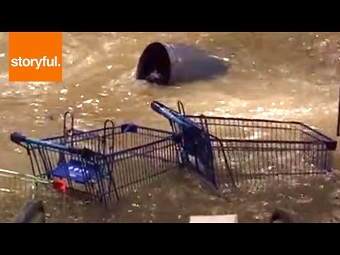 Crazy Flash Storm Floods Mall Entrance (Storyful, Crazy Weather)