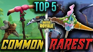 TOP 5 RAREST PICKAXE SKINS in Fortnite Battle Royale *UNEXPECTED*
