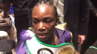 Claressa Shields discusses TKO win in Detroit