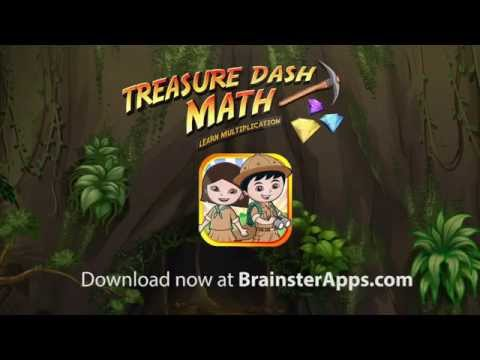 Treasure Dash Math: Learn Multiplication and Times Table Android/iOS App for Kids