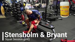 Squat Session at BBL/TSN HQ | Stensholm & Bryant