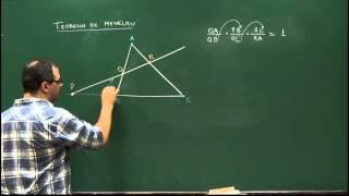 Geometria - Aula 63 - Teorema de Menelaus