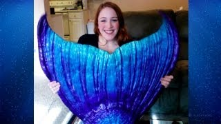 Merbella Studios performance full silicone tail unboxing - Mermaid Iona