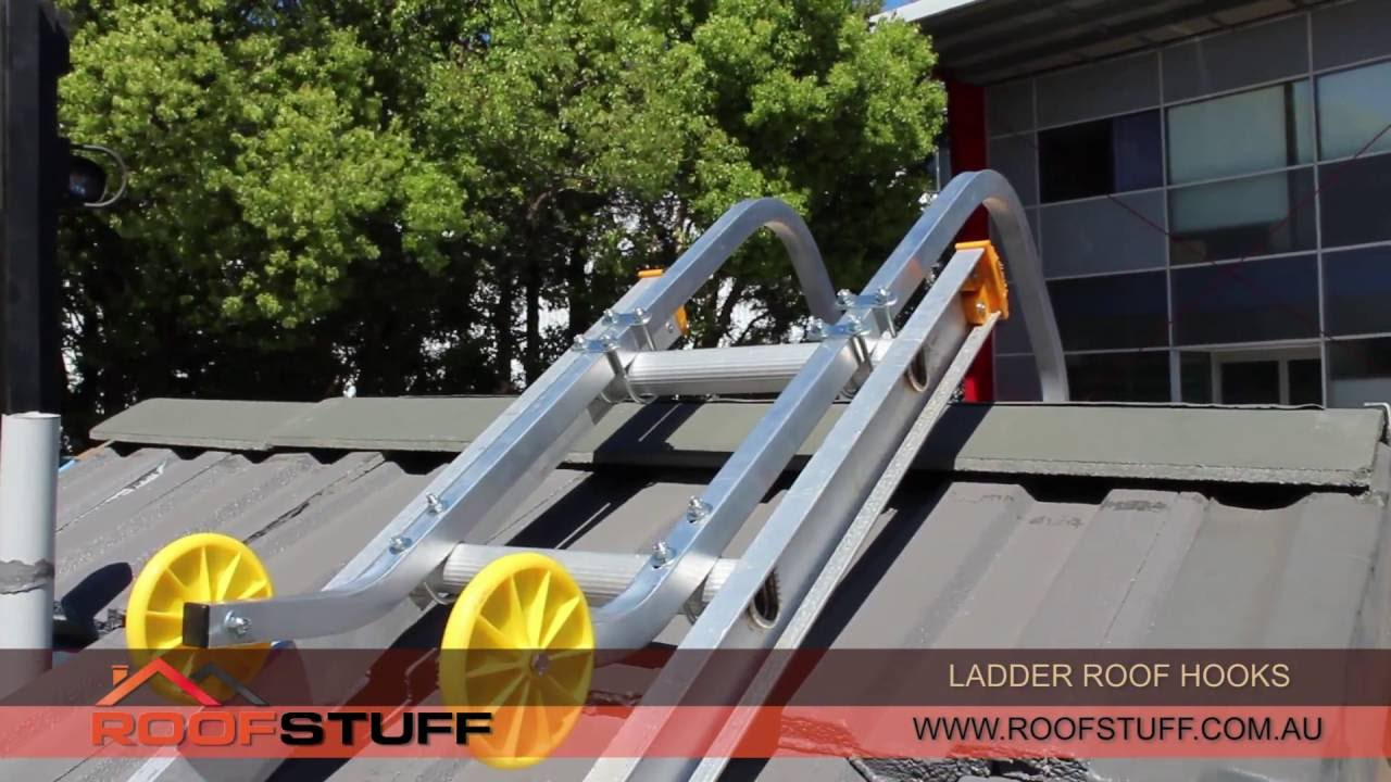 Ladder Roof Hooks Installation Youtube