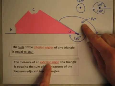 Interior and Exterior Angles of Triangles YouTube
