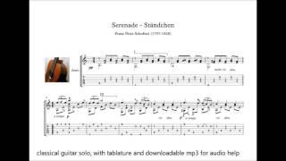 Serenade Classical guitar solo sheet music