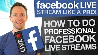 Facebook Live Stream like a Pro: How To Do Professional Facebook Livestreams (Wirecast)(This video runs through new Wirecast functionality and how you can use it to host professional Facebook livestreams, with multi-camera management and a ..., 2016-04-18T10:25:21.000Z)