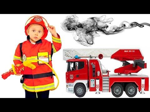 Видео Пожарный даник и игрушки 7