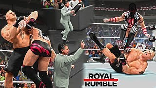 WWE 2K19: Brock Lesnar vs Finn Balor Royal Rumble 2019 (Universal Championship ft. Vince McMahon)