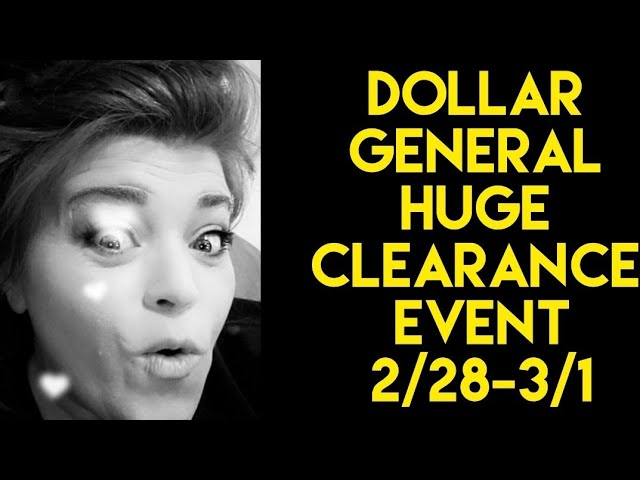 Dollar General CLEARANCE event info!