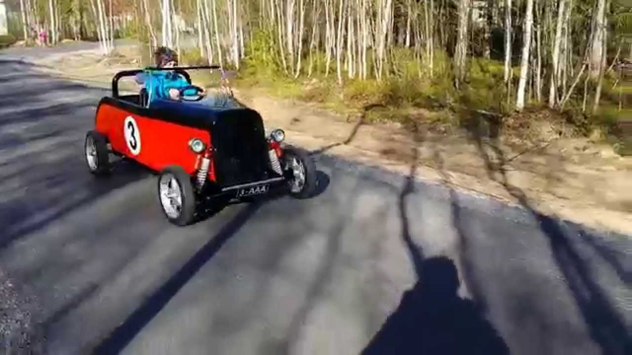 diy kids hot rod electrically assisted pedal car youtube