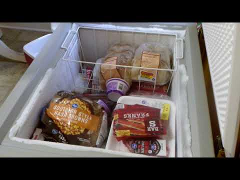What ya doing Na Na?  Clean out and organize small chest freezer - pt 1