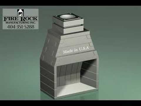 masonry firebox and chimney with brick flange youtube