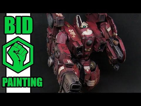 How to paint Tau Riptide battlesuit - Farsight scheme - YouTube