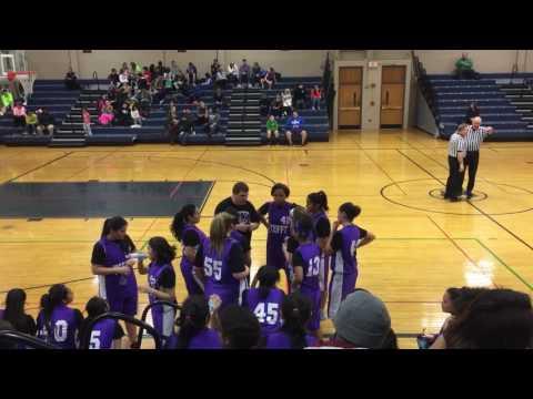 Sabrina basketball Tefft middle school versus Eastview 2/6 2