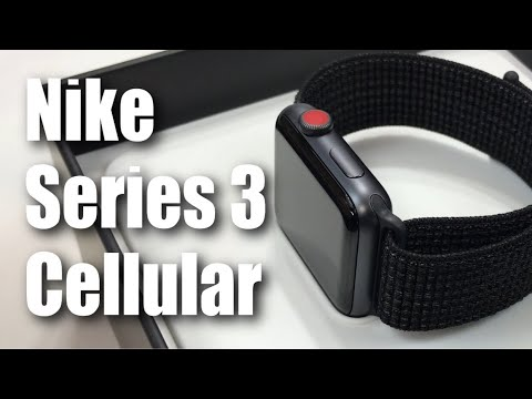 Unboxing The New Series 3 Nike Apple Watch With Cellular In Space Gray