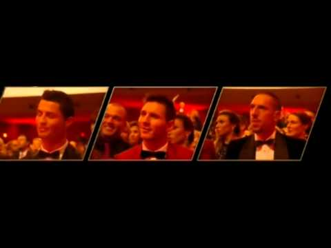 Leo Messi and Ribery reactions after Cristiano Ronaldo win Ballon D'Or 2013