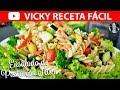 ENSALADA DE PASTA CON ATUN   #VickyRecetaFacil