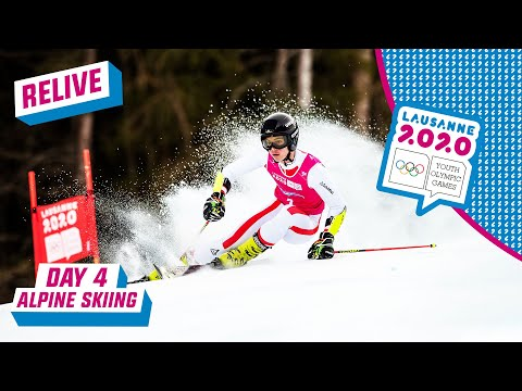 RELIVE - Alpine Skiing - Giant Slalom Run 1 - Day 4 | Lausanne 2020