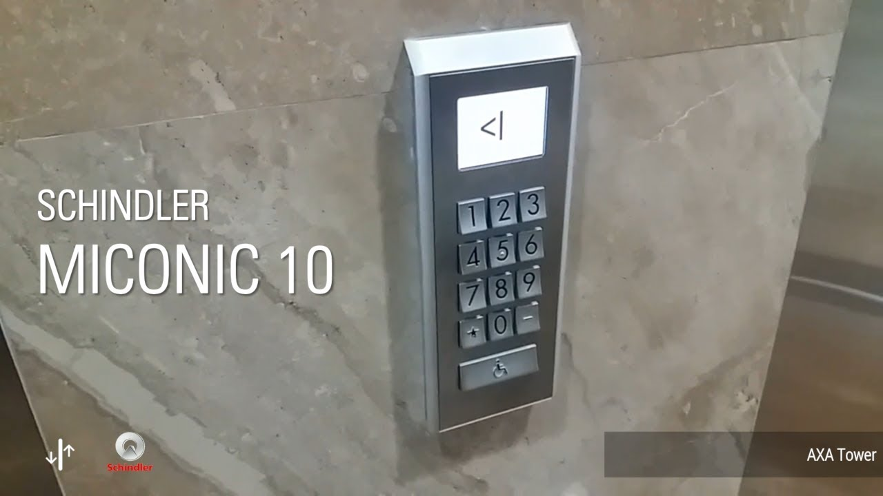 Schindler Miconic 10 Elevators Axa Tower Jakarta Id High Zone Youtube