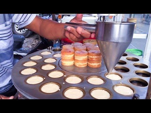 Asian Street Food - Fast Food Street in Asia, Cambodian food #50, Taiwan Cake
