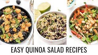 SUPER EASY Quinoa Salad Recipes for Summer ☀️3 WAYS
