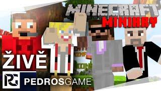 Pedro, House, Jirka a Gorrden | E17 - Minecraft minihry (záznam)