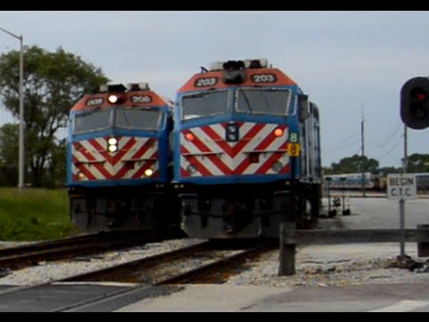 Railfanning Metra Rush Hour in Blue Island with Horns and an MP36PH-3C