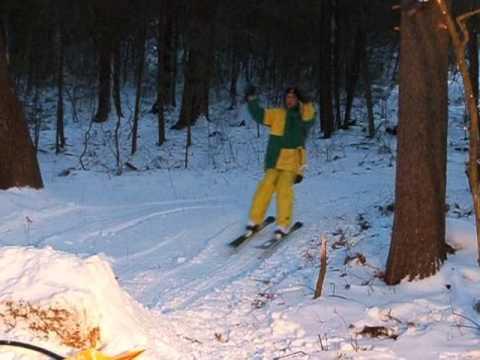 Bryan Lowe's First Frontflip on skis