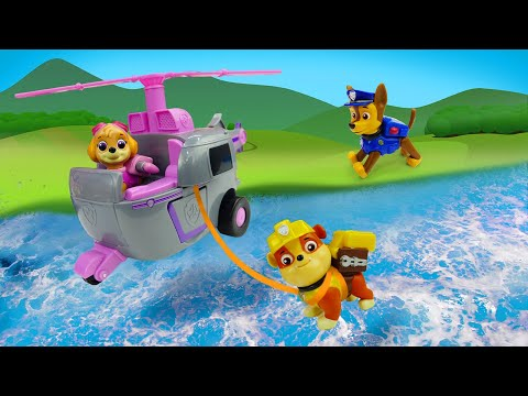 Видео про детские игрушки. Машины сказки про Щенячий Патруль. Щенки Чейз и Крепыш на пикнике
