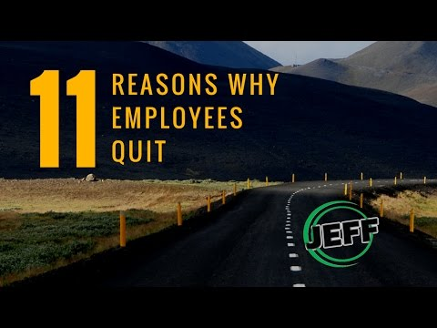 reasons why employees leave The most pertinent reason why employees leave their jobs goes back to the money question, and a lack of wage growth understandably, for many organisations, it isn't possible to exponentially increase an employees salary, just because they want more money.