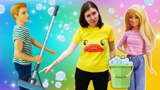 Видео с куклами – Барби и Кен! Уборка и новые разборки! – Новые игры для девочек в видео шоу.