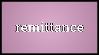Remittance Meaning