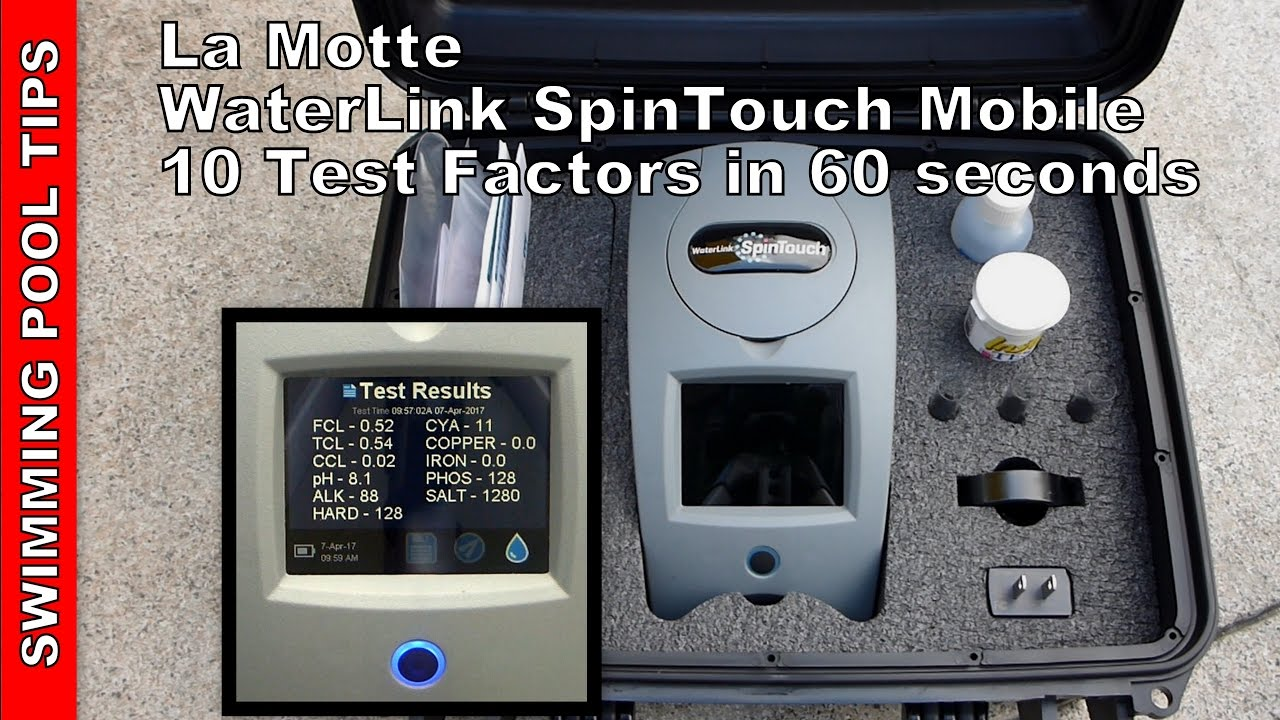 mobile waterlink spin touch lab 3581 10 test factors in 60 seconds