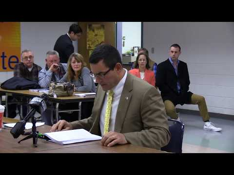 Rep. Bob Quattrocchi Speaks At RIDOT Environmental Assessment Meeting