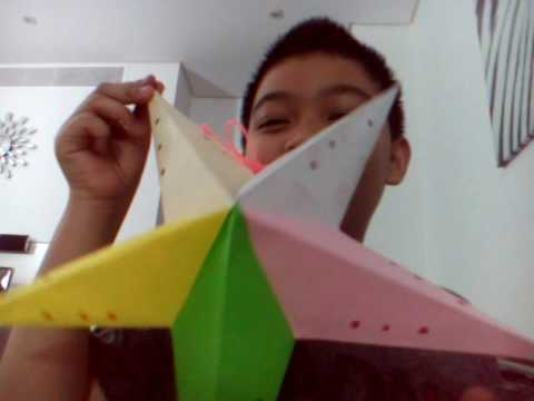 How to fold a paper star lantern