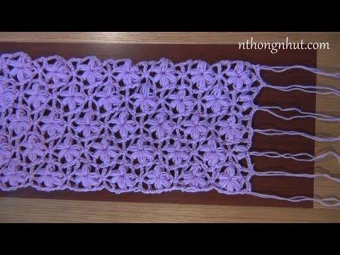 Hướng dẫn móc khăn choàng len