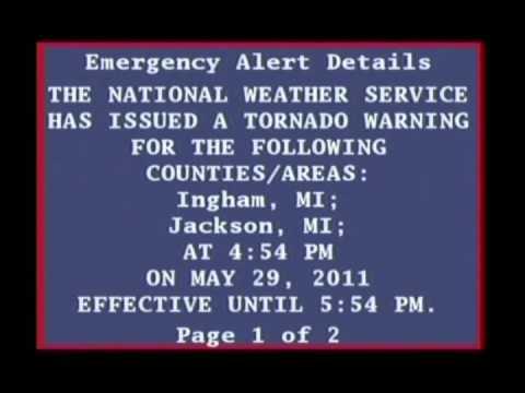 Tornado Warning and EAS Bulletin- May 29, 2011
