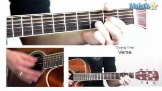 "How to Play ""Closing Time"" by Semisonic on Guitar"