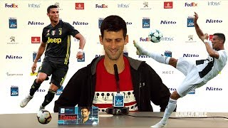 "Novak Djokovic ""Hopefully I get chance to see Ronaldo"" - ATP Finals 2018 (HD)"