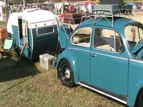 vw aircooled bug   pulling  camper trailer hard  belive   pull  youtube