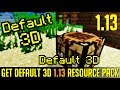 How to get 3D Textures in Minecraft 1.13 - download install Default 3D resource pack [texture pack]