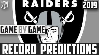 2019 NFL Record Predictions - Oakland Raiders Record Prediction 2019