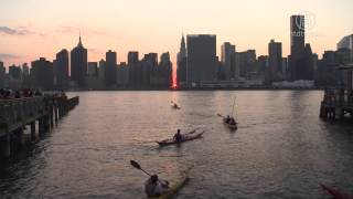 纽约的城市自然景观--曼哈顿悬日