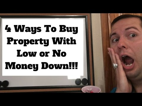 4 Ways to Buy Income Property With Low or No Money Down!!!