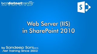 Web Server IIS introduction - SharePoint 2010 Tutorial for Beginners