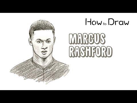 How To Draw Marcus Rashford Youtube
